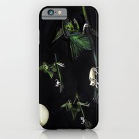 iPhone & iPod Case featuring Three Witches on Brooms with the Moon.  by Richard J. Bailey