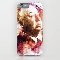 iPhone & iPod Case featuring ALFRED HITCHCOCK by Elizabeth Cakovan