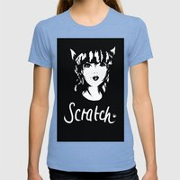 Scratch Womens Fitted Tee Tri-Blue SMALL
