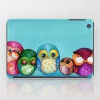 Fabric Owl Family iPad Case