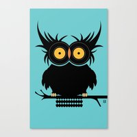 OWL  VINYL RECORDS Canvas Print