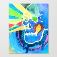 Diamondskull Canvas Print