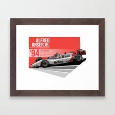 Al Unser Jr - 1994 Indianapolis Framed Art Print