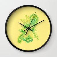 Green Arabesque Wall Clock