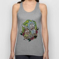 Traditional Rick And Mor… Unisex Tank Top