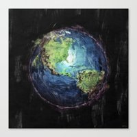 Earth And Space Canvas Print