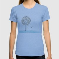 Tree Womens Fitted Tee Athletic Blue SMALL
