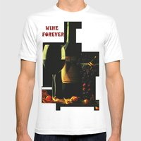Still Life With Wine Mens Fitted Tee White SMALL