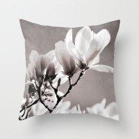 Magnolia Soulangeana Throw Pillow
