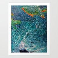 Ocean Depth Abstract Pai… Art Print