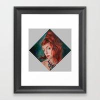 Red-Haired Framed Art Print
