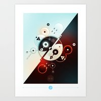 Ying-Yang Blue Version Art Print