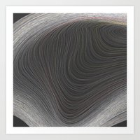 Layers Grey Art Print