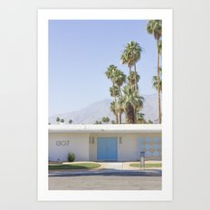 Blue Door, Palm Springs Art Print