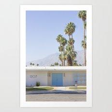 Blue Door, Palm Springs Art Print