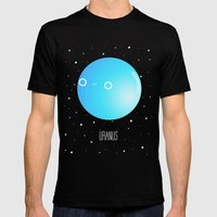 Uranus Mens Fitted Tee Black SMALL