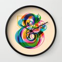 Champersands Wall Clock