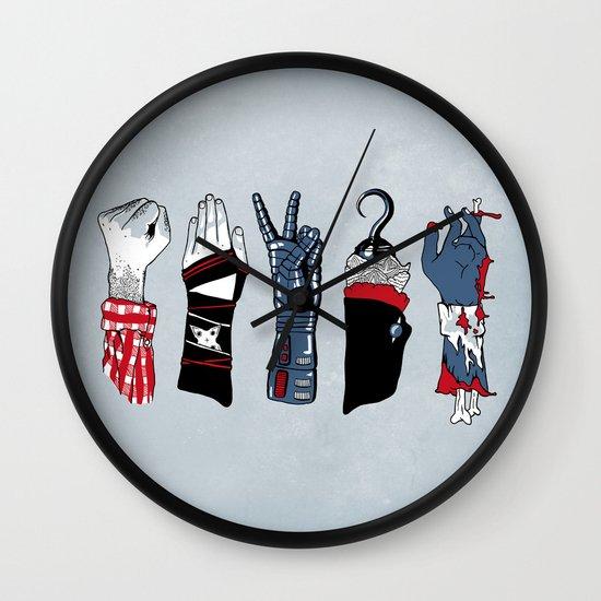 Epic Rock Paper Scissors Battle Wall Clock