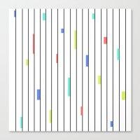 Color & Stripes Canvas Print