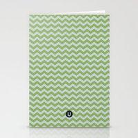 U14: algae chevron Stationery Cards