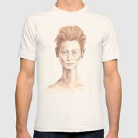 Tilda Swinton Inspiration Mens Fitted Tee Natural SMALL