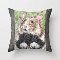 Did Someone Say Nuts Throw Pillow