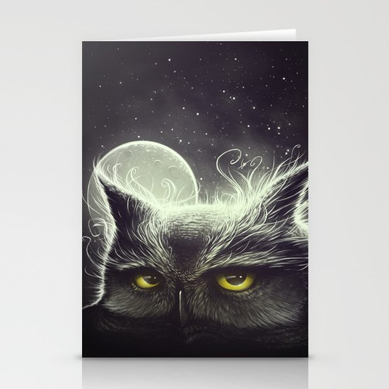 Owl & The Moon Stationery Card