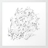 Liquid Animals Art Print
