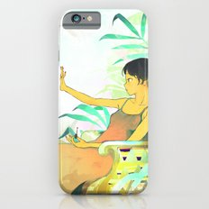 Woman painting a manicure iPhone 6 Slim Case