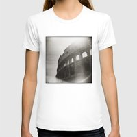 { Colosseum } Womens Fitted Tee White SMALL