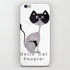 Hello Cat People iPhone & iPod Skin