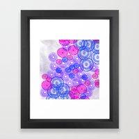 Flower Power Blue Framed Art Print