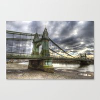 Hammersmith Bridge Londo… Canvas Print