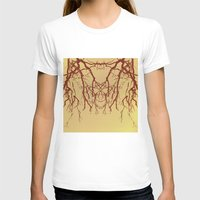Branches#07 Womens Fitted Tee White SMALL