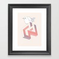 Birds And Impossible Obj… Framed Art Print