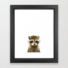 Little Raccoon Framed Art Print