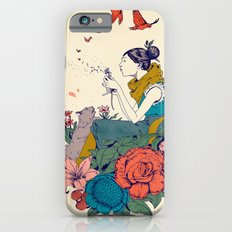 Woman And Flowers iPhone 6 Slim Case