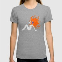Dead model No.4 Womens Fitted Tee Tri-Grey SMALL