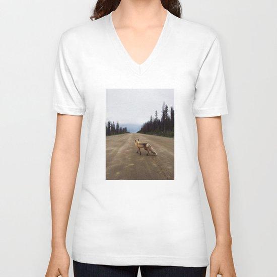 Road Fox V-neck T-shirt