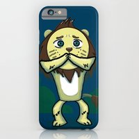 iPhone & iPod Case featuring Cowardly Lion by Inque
