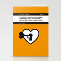 No002 MY Pride and Prejudice Book Icon poster Stationery Cards