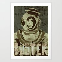 Buster Keaton - the legend Art Print