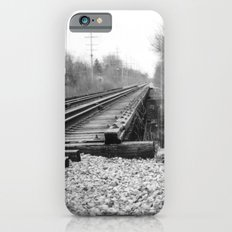 Railroad Tracks Black and White Photography iPhone 6 Slim Case