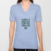 Make a beeline for the treeline Unisex V-Neck