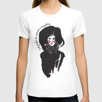 I'd Prefer to Remain a Mystery Womens Fitted Tee White SMALL
