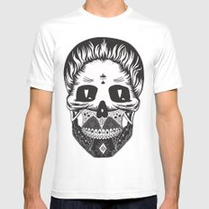 Calavera White SMALL Mens Fitted Tee