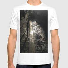 Street In Paris SMALL White Mens Fitted Tee