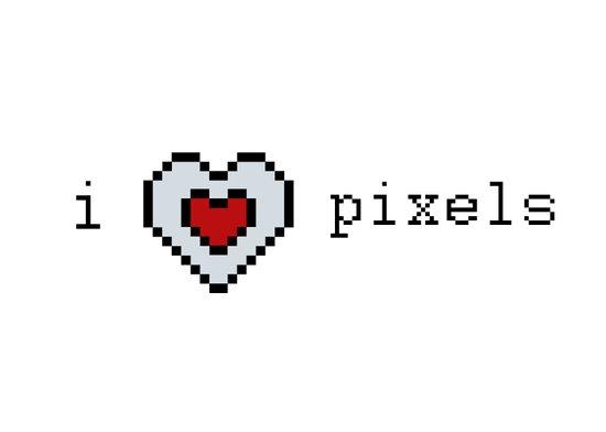 I Love Pixels  Art Print