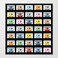 Rainbow Tapes Canvas Print