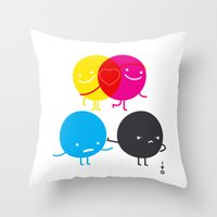 YM love CK hate Throw Pillow